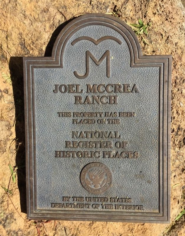 Joel McCrea Ranch Marker image. Click for full size.