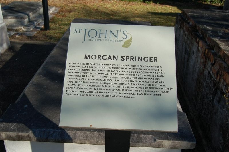 Morgan Springer Marker image. Click for full size.