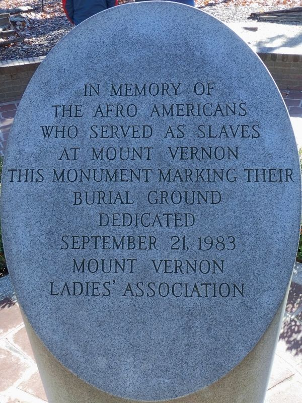 Mount Vernon's Slave Memorial Marker image. Click for full size.
