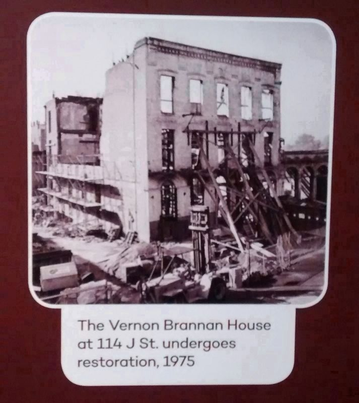 Vernon-Brannan House during restoration image. Click for full size.