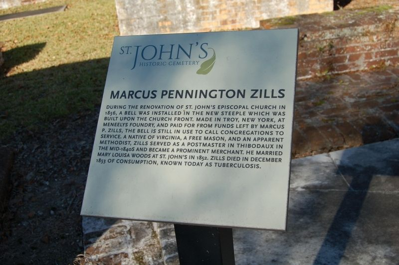 Marcus Pennington Zills Marker image. Click for full size.