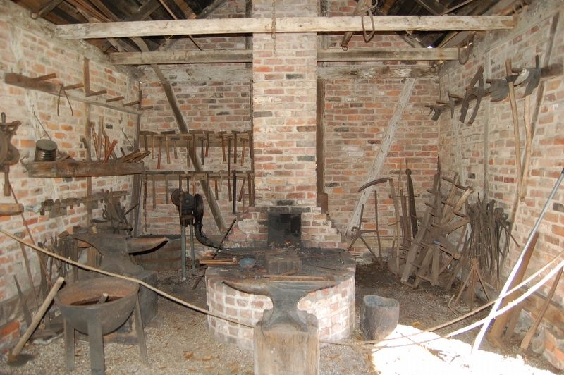 Blacksmith Shop internal image. Click for full size.