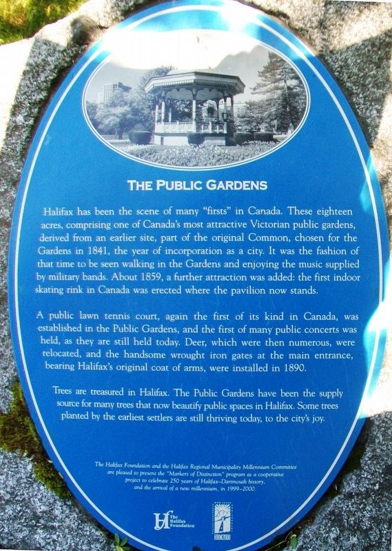 The Public Gardens Marker image. Click for full size.