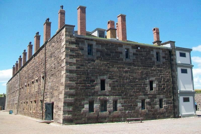 Halifax Citadel Headquarters Building (back) image. Click for full size.