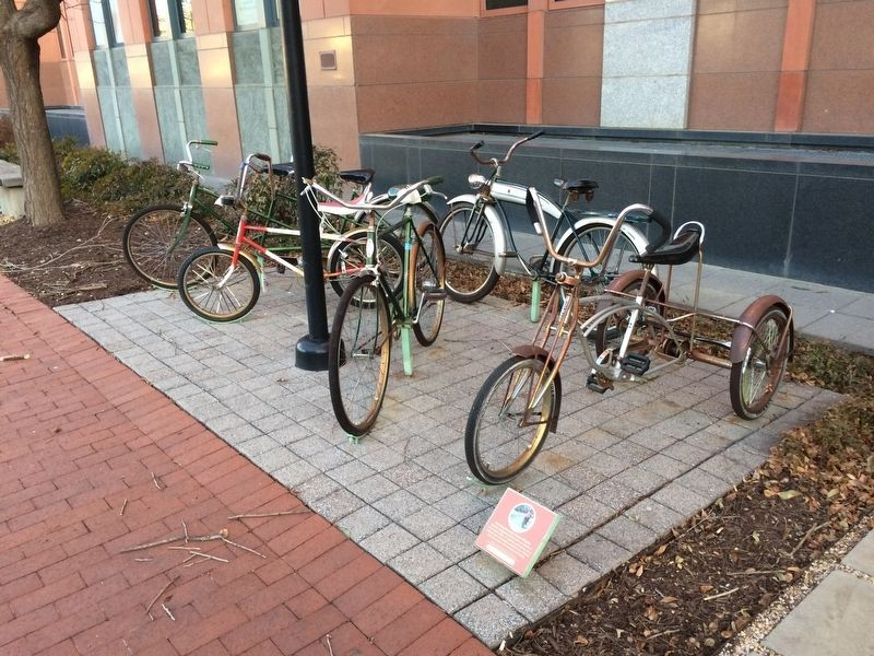 Four Bicycles and a Three-Wheeler Marker image. Click for full size.