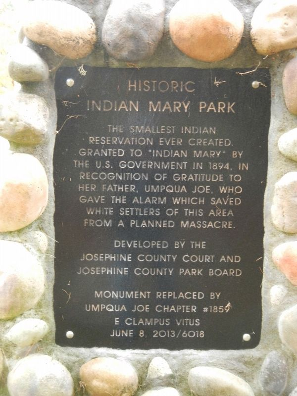 Historic Indian Mary Park Marker image. Click for full size.