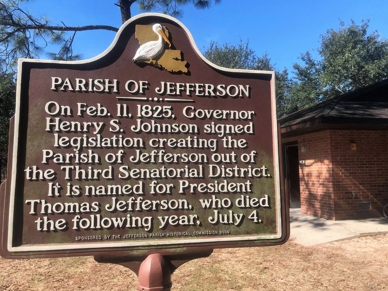 Parish of Jefferson Marker image. Click for full size.