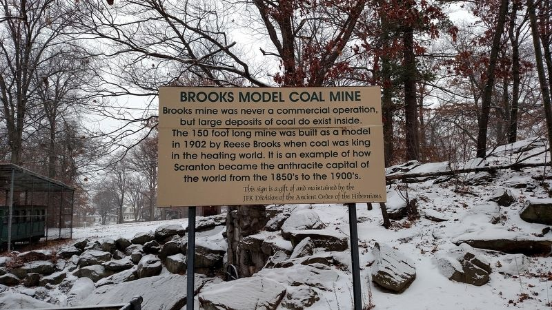 Brooks Model Coal Mine Marker image. Click for full size.