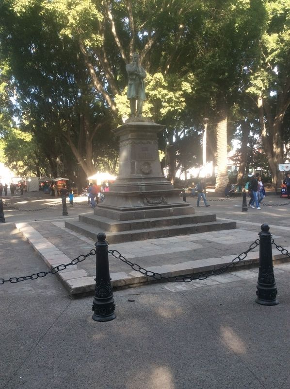 "The monument to Gabino Barreda near the ""Paseo Bravo"" as a Civic Space Marker image. Click for full size."