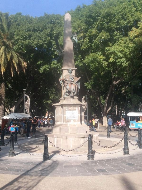 Nicolás Bravo Monument and Markers image. Click for full size.
