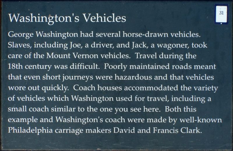 Washington's Vehicles Marker image. Click for full size.