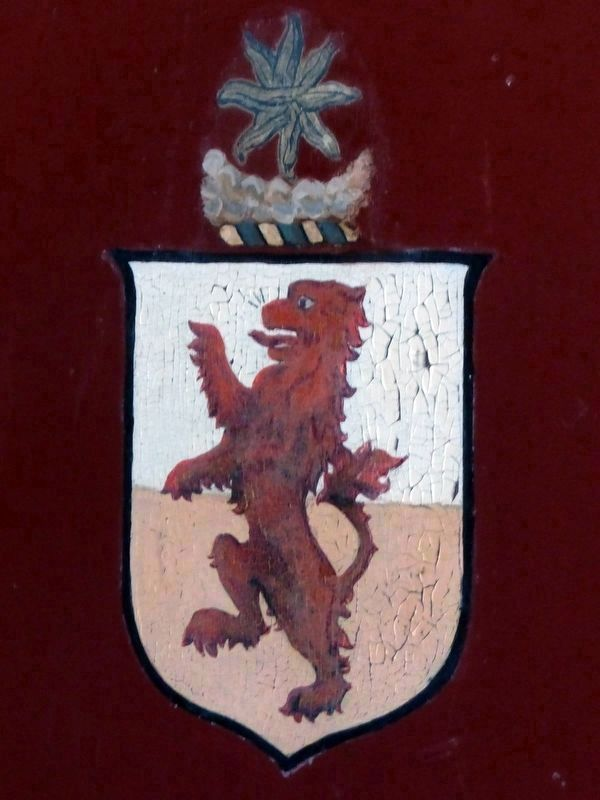The Crest of Samuel Powel<br>Mayor of Philadelphia<br>on the Powel Coach image. Click for full size.