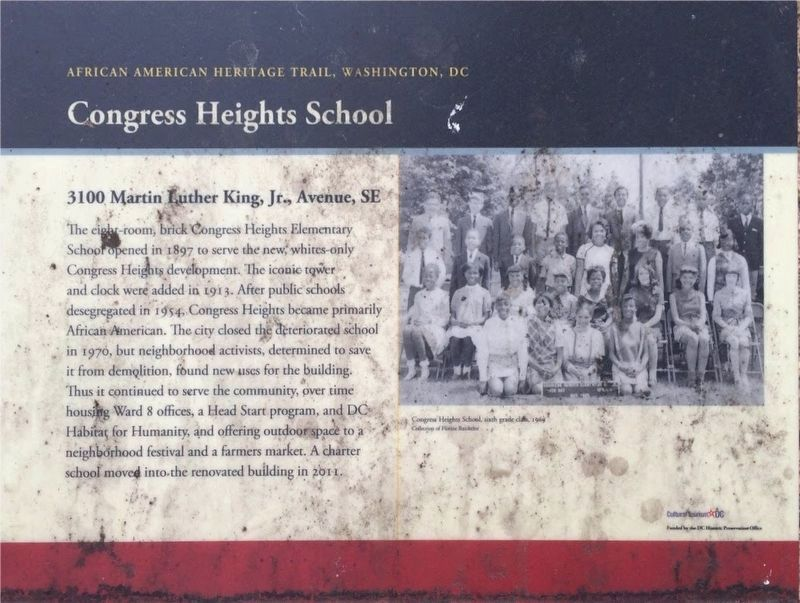 Congress Heights School Marker image. Click for full size.