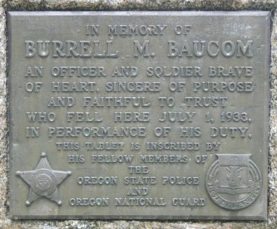 Burrell M. Baucom Marker image. Click for full size.