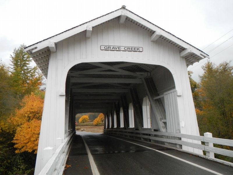 Grave Creek Covered Bridge image. Click for full size.