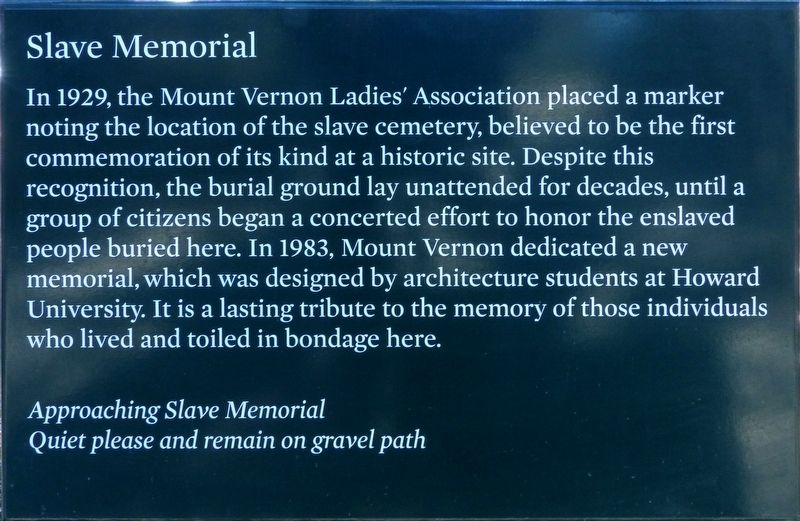Slave Memorial Marker image. Click for full size.