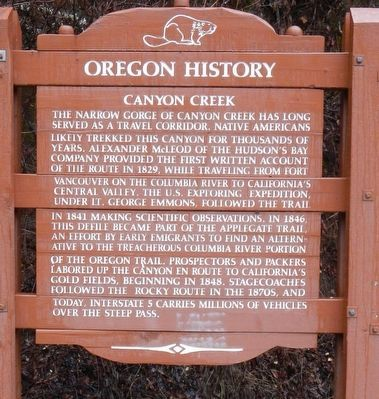 Canyon Creek Marker image. Click for full size.