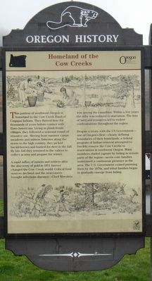 Homeland of the Cow Creeks Marker image. Click for full size.