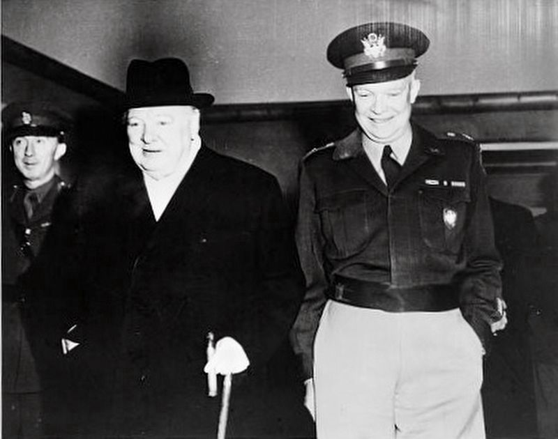 Dwight David Eisenhower with Sir Winston Churchill image. Click for full size.