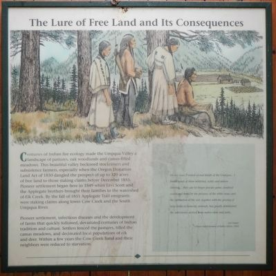 The Lure of Free Land and Its Consequences panel image. Click for full size.
