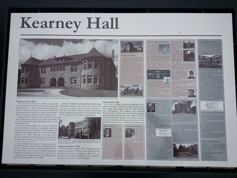 Kearney Hall Marker image. Click for full size.