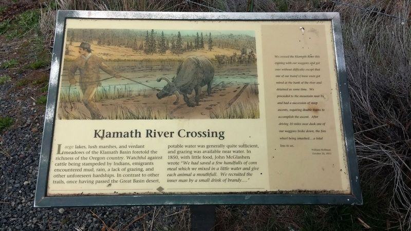 Klamath River Crossing Marker image. Click for full size.
