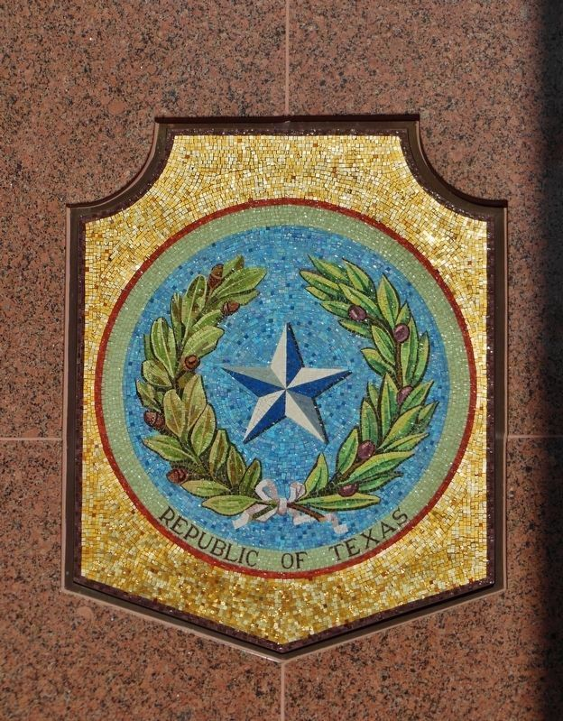 Texas Seal Mosaic (1836-1845) image. Click for full size.