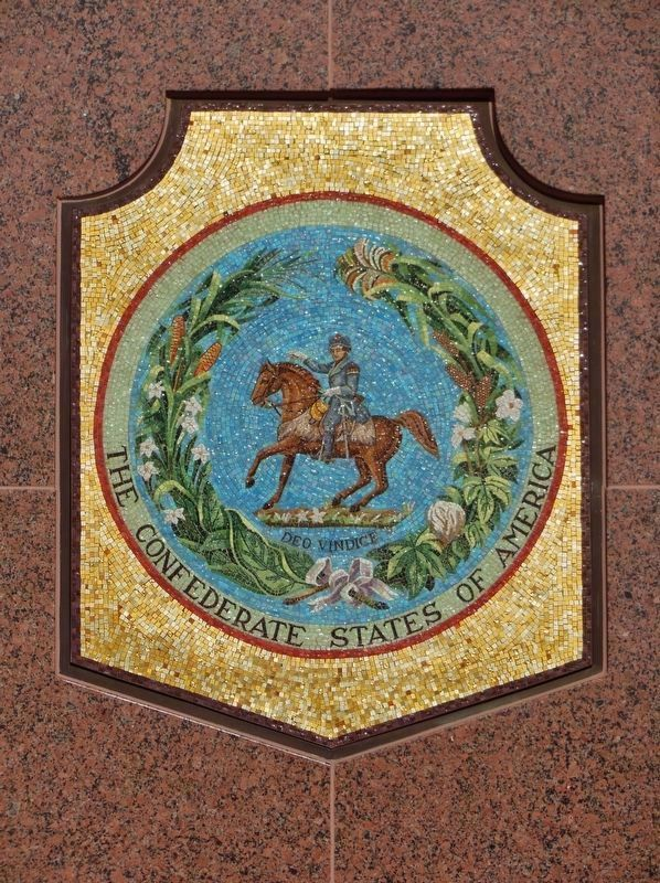 C.S.A. Seal Mosaic (1861-1865) image. Click for full size.