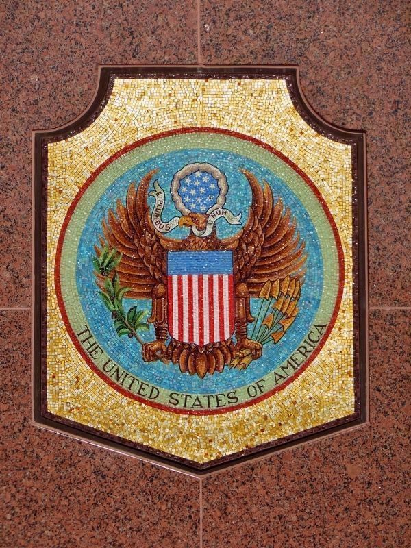 U.S.A. Seal Mosaic (1845-1861, 1865+) image. Click for full size.