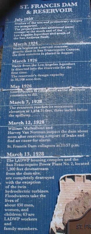 Informational sign with history timeline image. Click for full size.