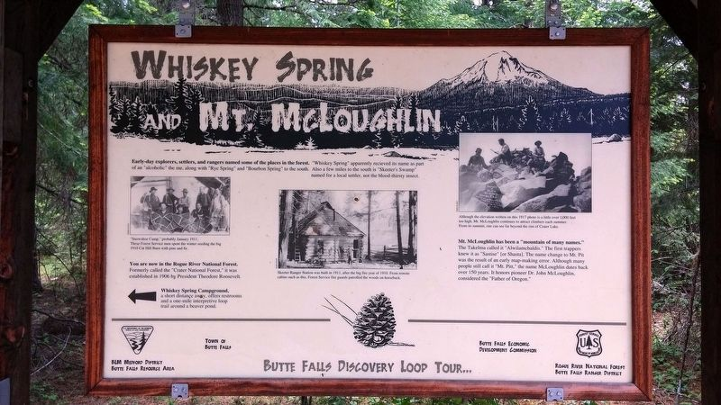 Whiskey Spring and Mt. McLoughlin Marker image. Click for full size.