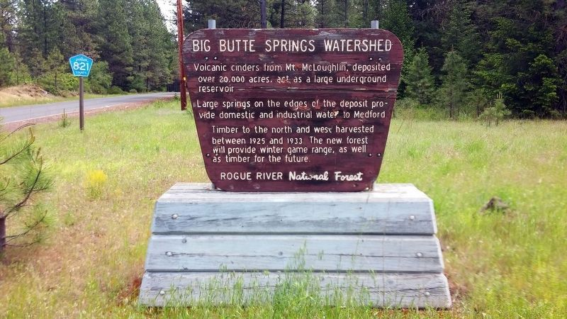 Butte Springs Watershed Marker image. Click for full size.