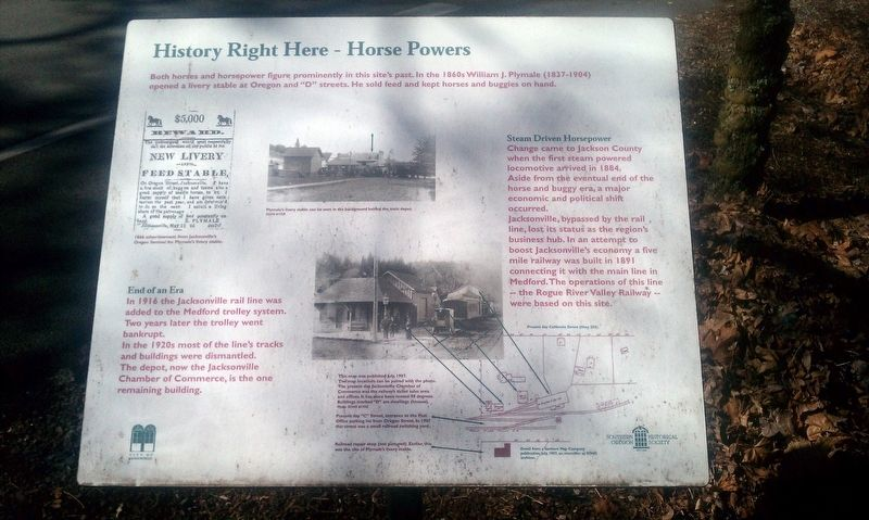 History Right Here - Horse Powers Marker image. Click for full size.