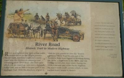 River Road Marker image. Click for full size.
