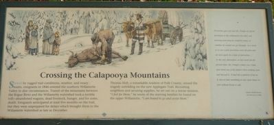 Crossing the Calapooya Mountains Marker image. Click for full size.