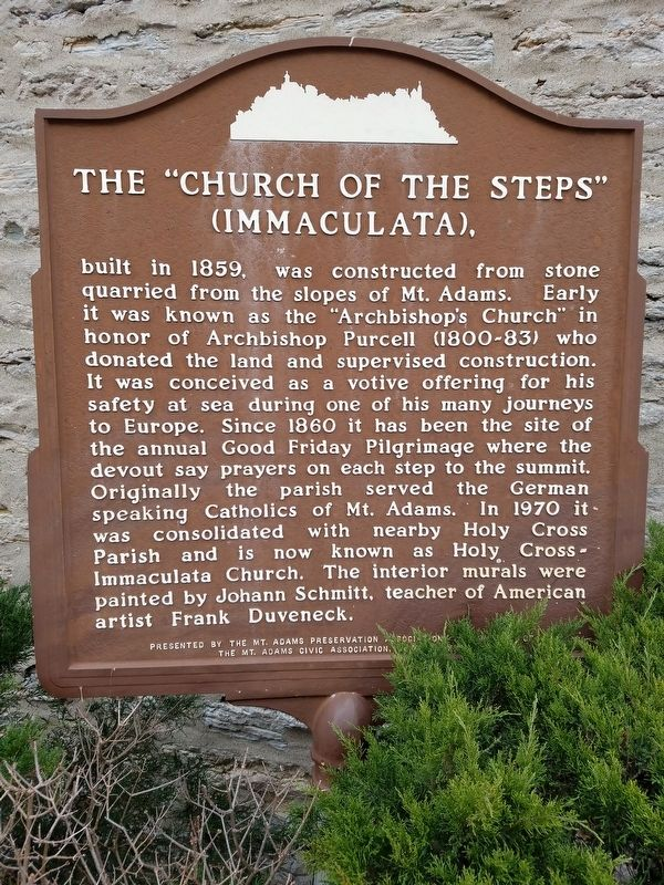 "The ""Church of the Steps"" (Immaculata) Marker image. Click for full size."