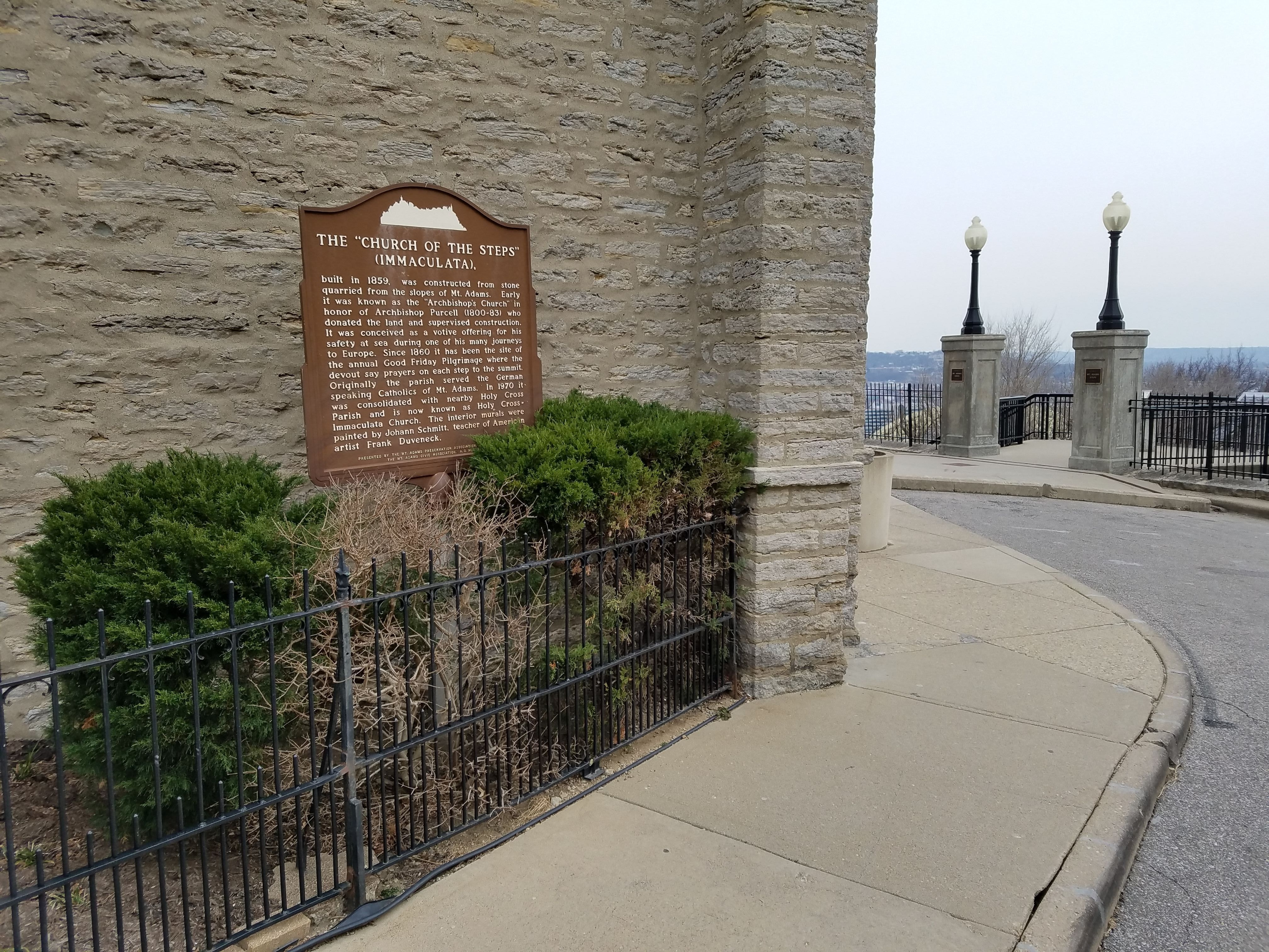 "The ""Church of the Steps"" (Immaculata) Marker"