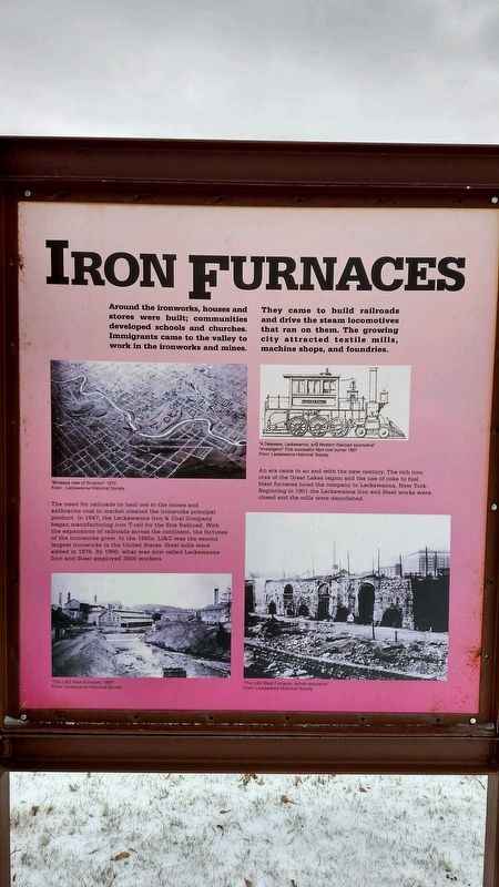 Scranton Iron Furnaces Marker image. Click for full size.