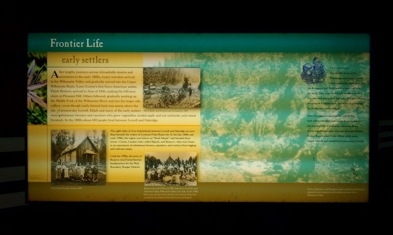 Frontier Life Marker image. Click for full size.