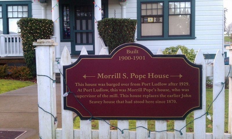 Morrill S. Pope House Marker image. Click for full size.