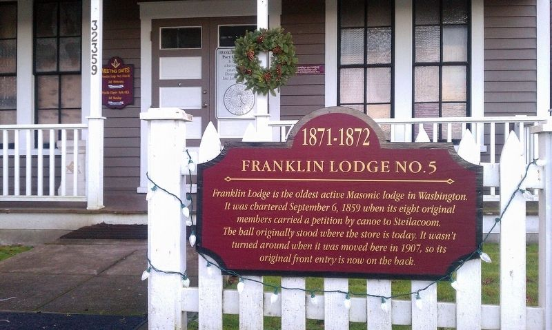Franklin Lodge No. 5 Marker image. Click for full size.