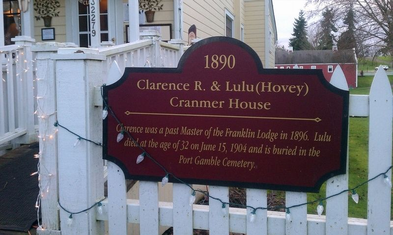 Clarence R. & Lulu (Hovey) Cranmer House Marker image. Click for full size.