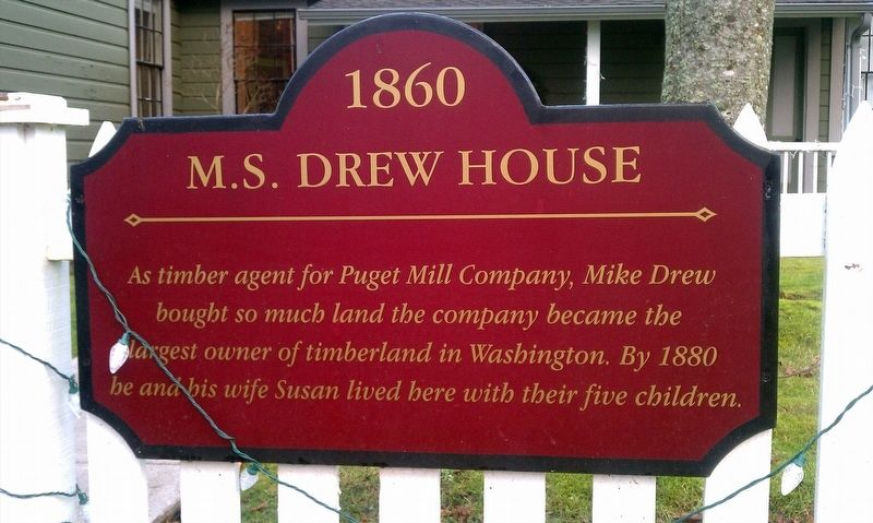 M.S. Drew House Marker image. Click for full size.