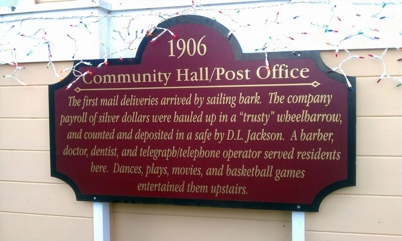 Community Hall / Post Office Marker image. Click for full size.