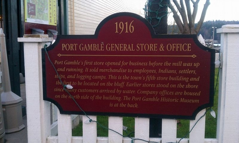 Port Gamble General Store & Office Marker image. Click for full size.