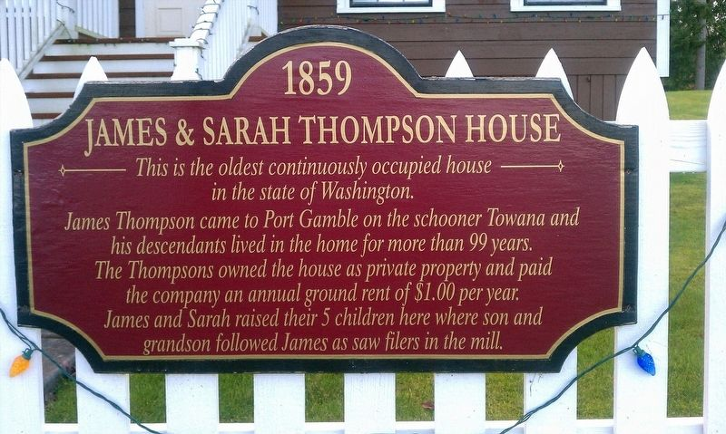 James & Sarah Thompson House Marker image. Click for full size.