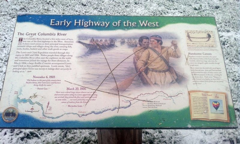 Early Highway of the West Marker image. Click for full size.
