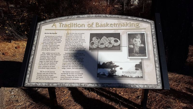 A Tradition of Basketmaking Marker image. Click for full size.