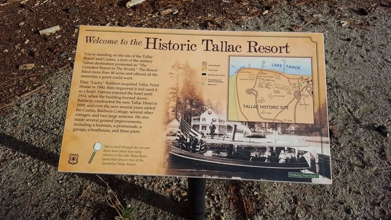 Welcome to the Historic Tallac Resort Marker image. Click for full size.