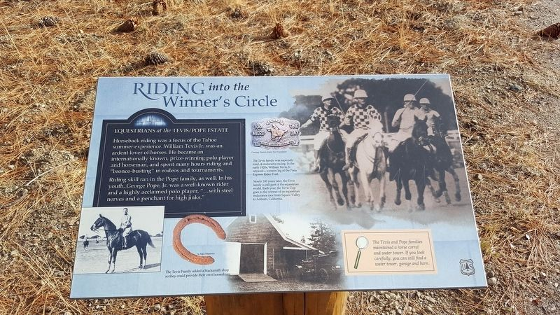 Riding into the Winner's Circle Marker image. Click for full size.